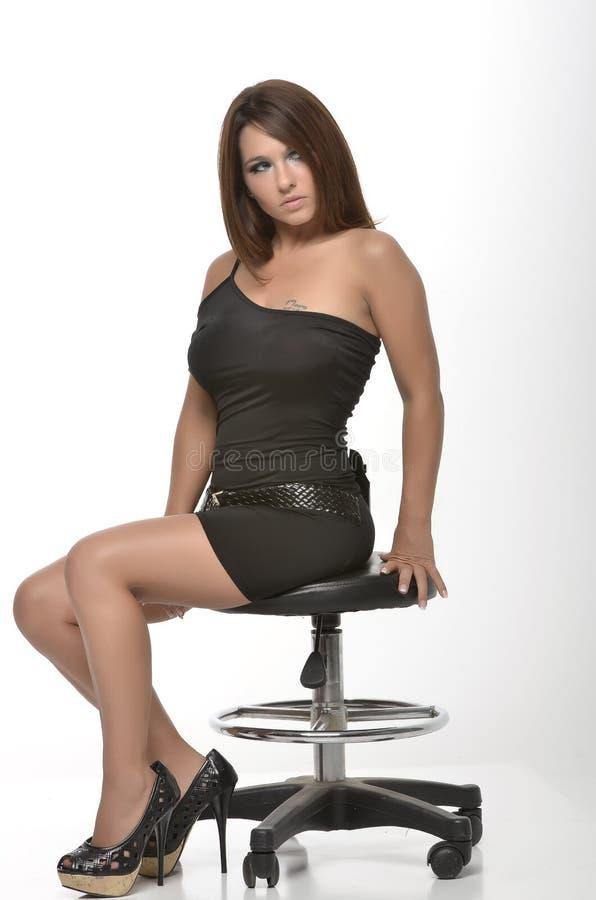 Elegancka czerni suknia zdjęcie royalty free
