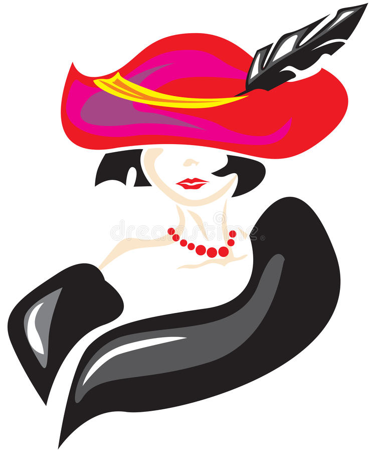 elegancka dama royalty ilustracja