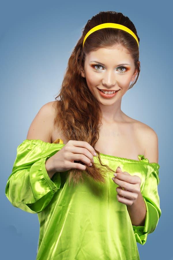 Piękny włosy zdjęcie stock