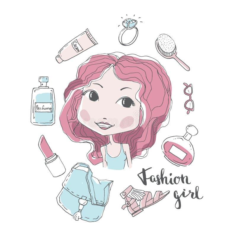 Elegancka dziewczyny ilustracja ilustracja wektor