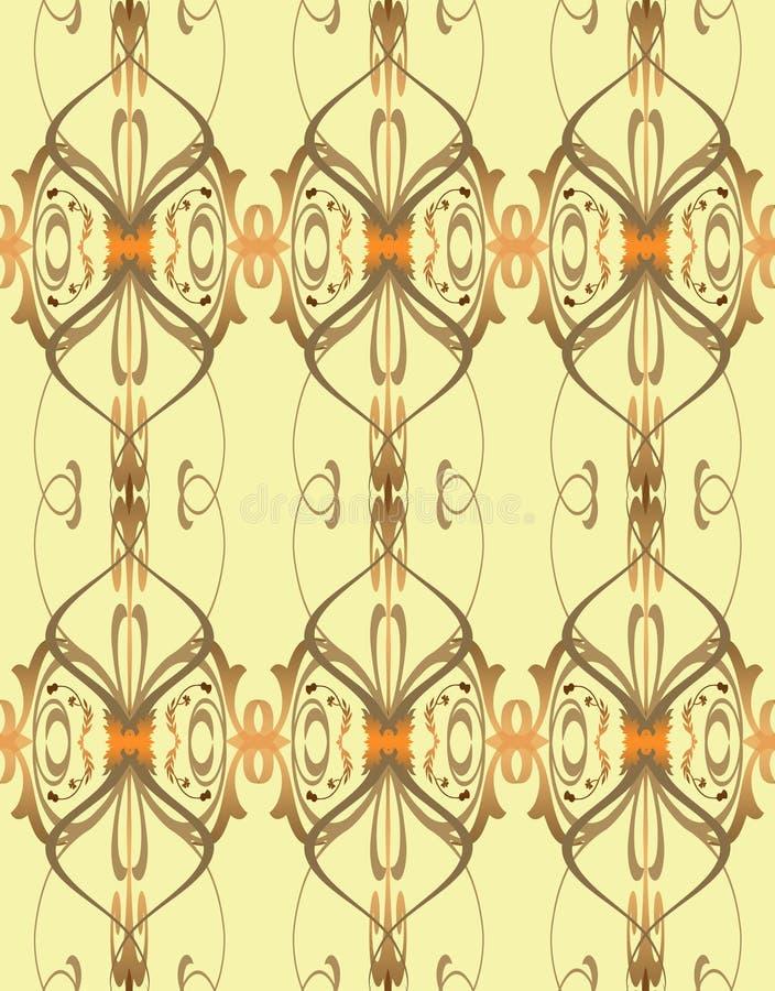 elegancka fasonująca stara tapeta ilustracji