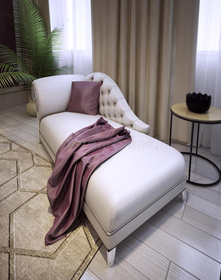 Elegancka hol kanapa w luksusowym klasyka stylu obrazy royalty free