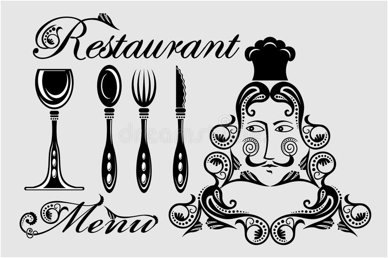 Elegancka karta dla restauracyjnego menu ilustracja wektor
