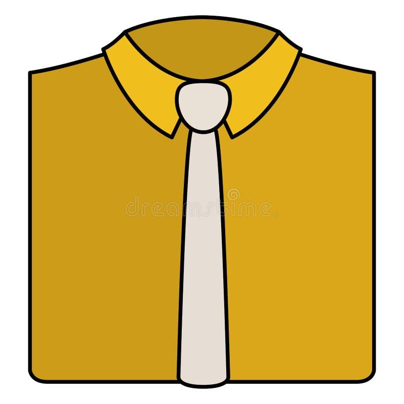 Elegancka koszula z krawatem ilustracji