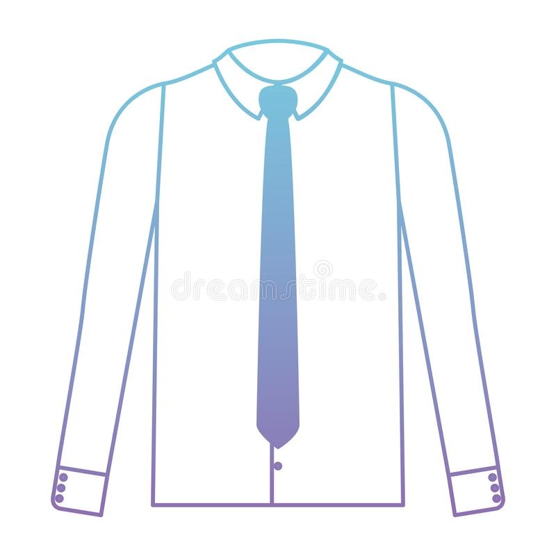 Elegancka koszula z krawatem royalty ilustracja