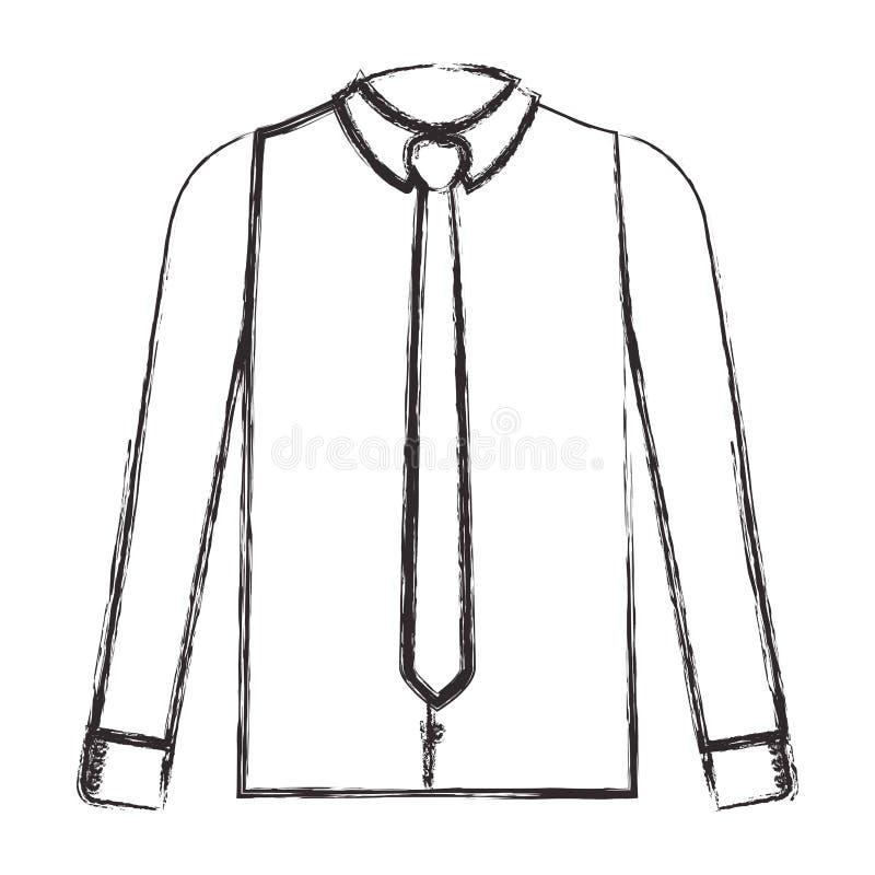 Elegancka koszula z krawatem ilustracja wektor