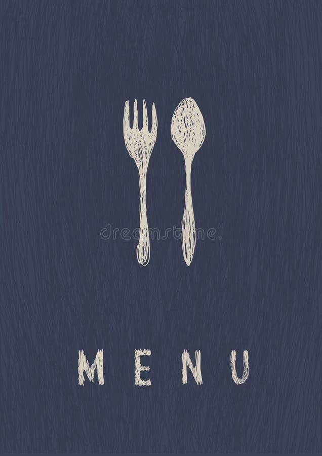 elegancka menu restauracja royalty ilustracja