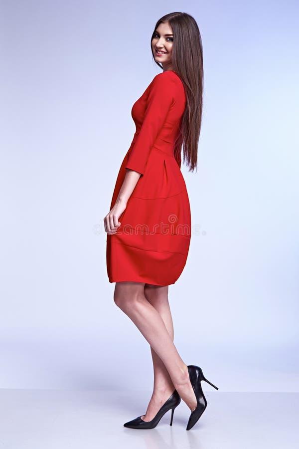 Elegancka moda splendoru modela poza dla katalogu obrazy stock