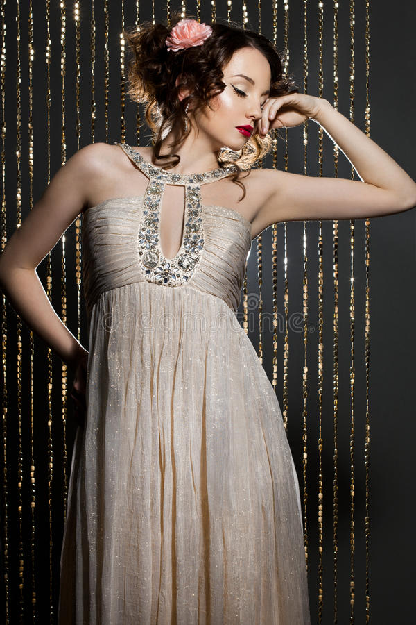 Elegancka modna kobieta zdjęcie stock