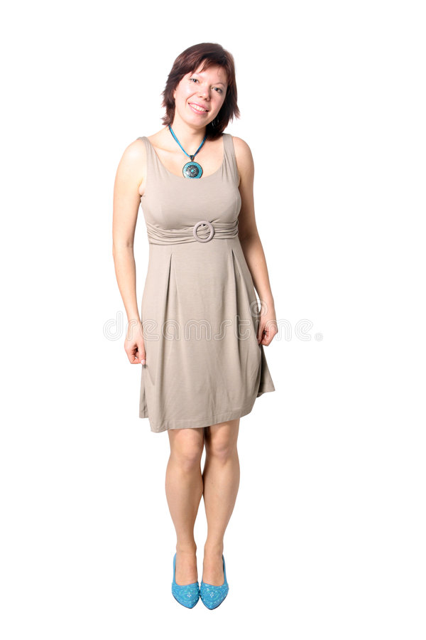 elegancka odosobniona kobieta fotografia stock