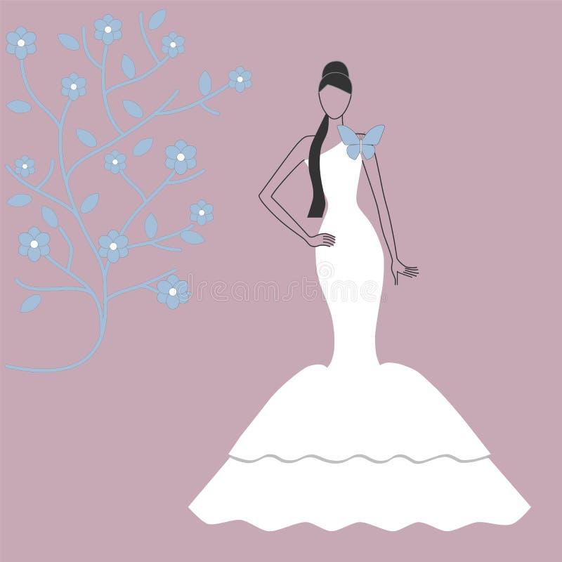 Elegancka panna młoda ilustracji