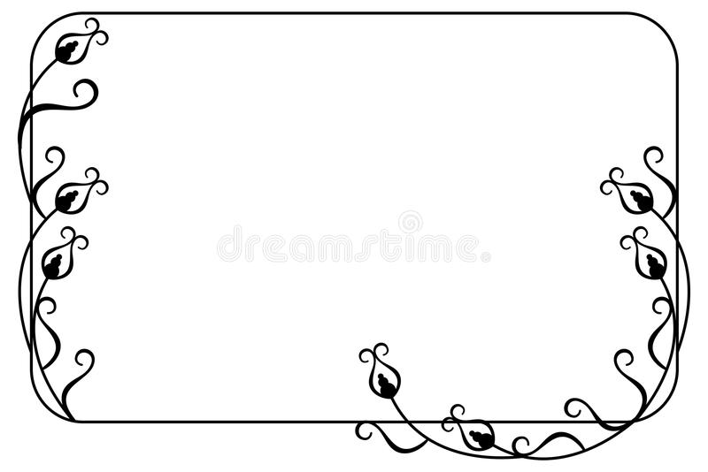 Elegancka rama z kwiecistym ornamentem ilustracji