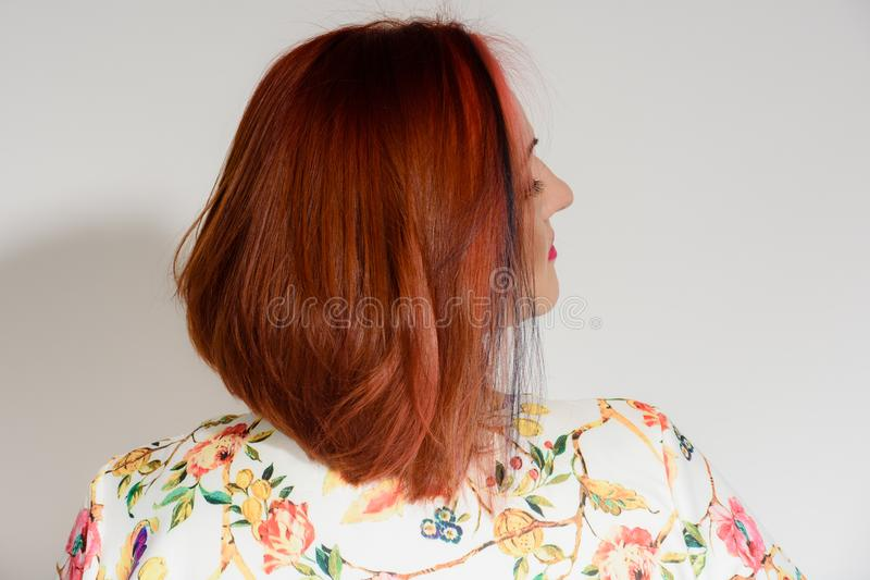 Elegancka rudzielec kobieta obrazy stock