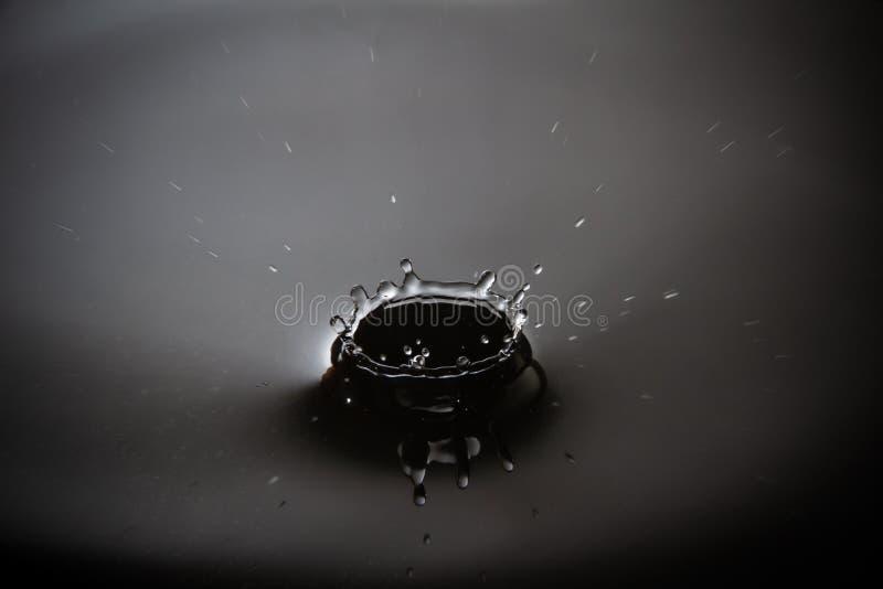 Elegancka szarej skali wody kropla obraz stock