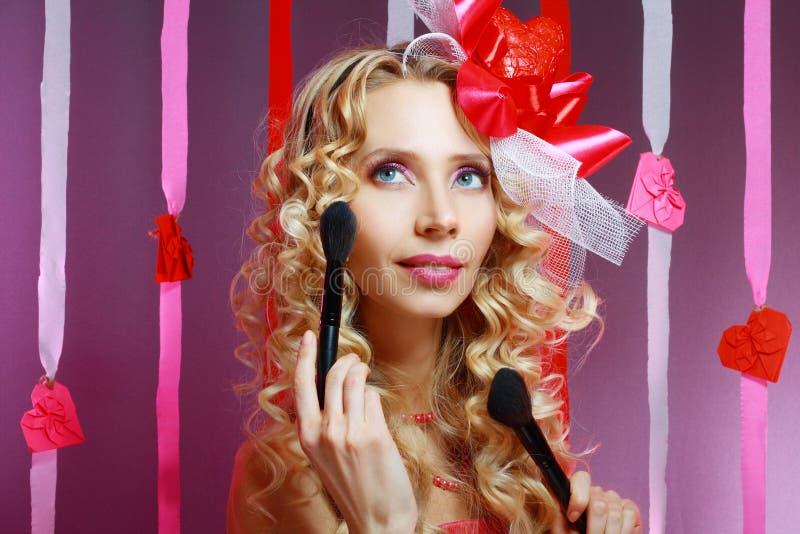Elegancka valentine kobieta fotografia stock