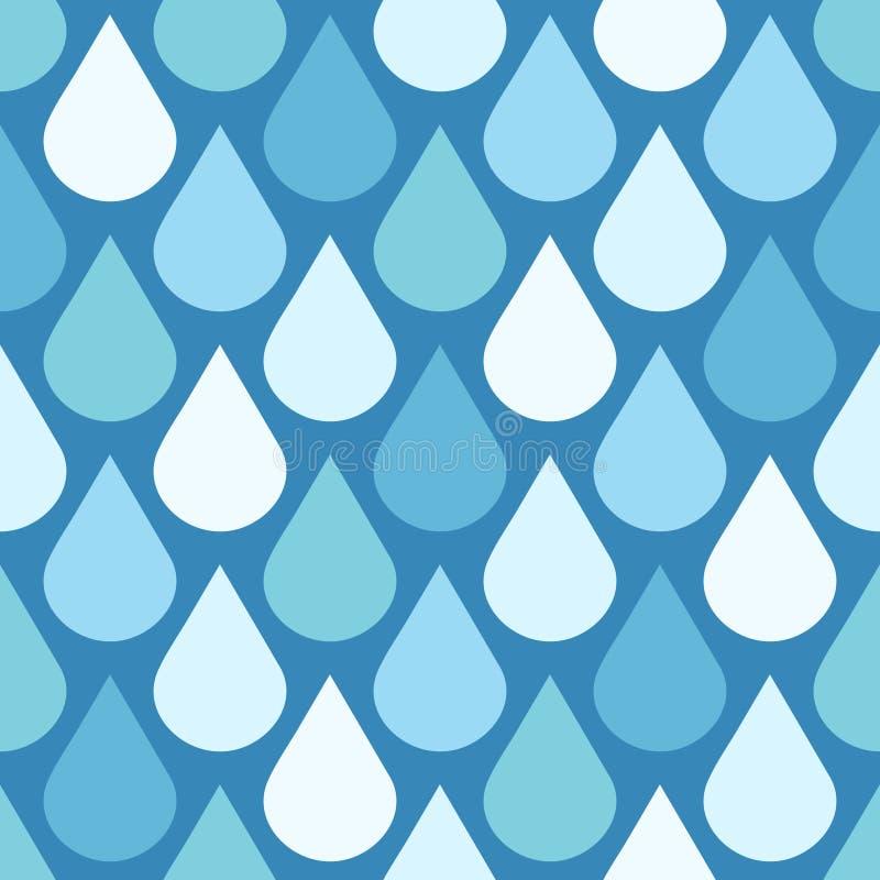 Elegancka wektor woda opuszcza bezszwowego tło ilustracji