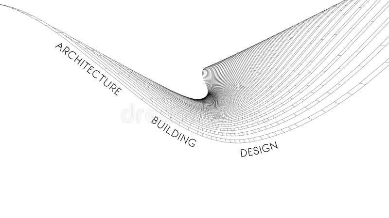 Elegancka wizytówka dla architekta abstrakcjonistyczna wektorowa ilustracja royalty ilustracja