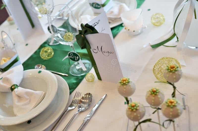 Elegancki ślubu stół obraz stock