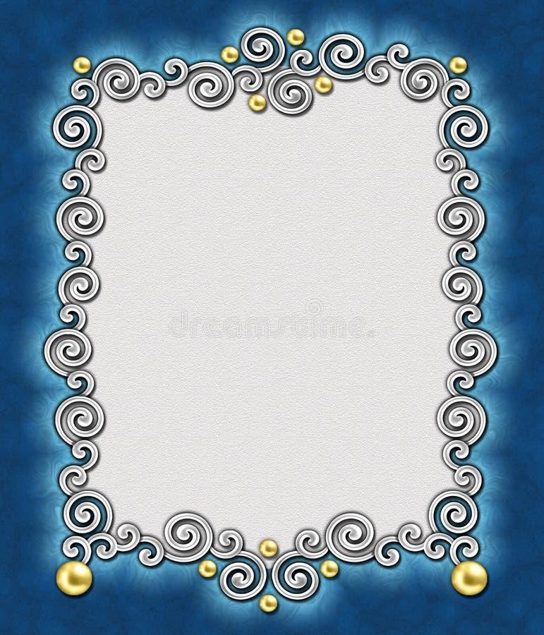 elegancki 2 kwiatek ramowy zdjęcia stock