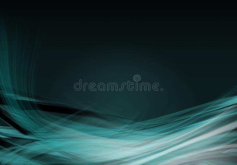 Elegancki abstrakcjonistyczny aqua tła projekt z przestrzenią ilustracja wektor