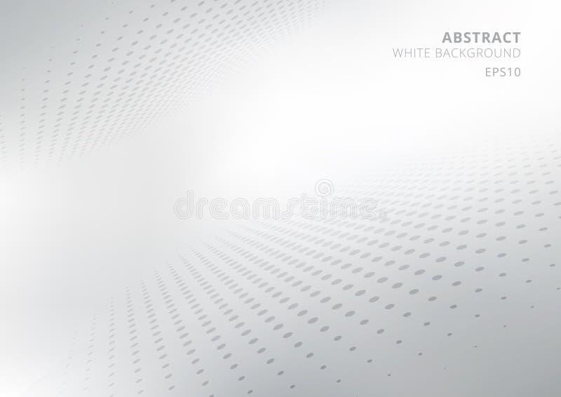 Elegancki abstrakcjonistyczny biały, szary gradientowy perspektywiczny tło z stylem i Nowożytny projekt dla raportu i royalty ilustracja
