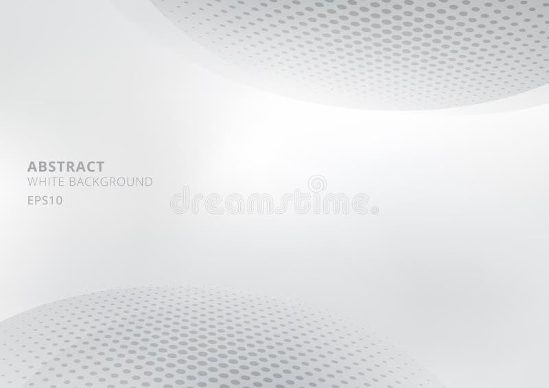Elegancki abstrakcjonistyczny biały, szary gradientowy tło z stylem i Nowożytny projekt dla raportu i projekta ilustracji