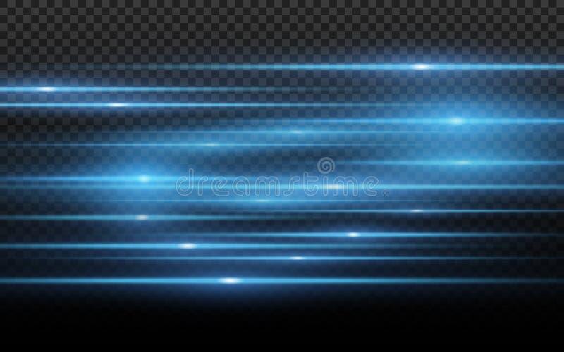 Elegancki błękitny lekki skutek Abstrakcjonistyczne wiązki laserowe światło Chaotyczni neonowi promienie światło dla twój projekt ilustracji
