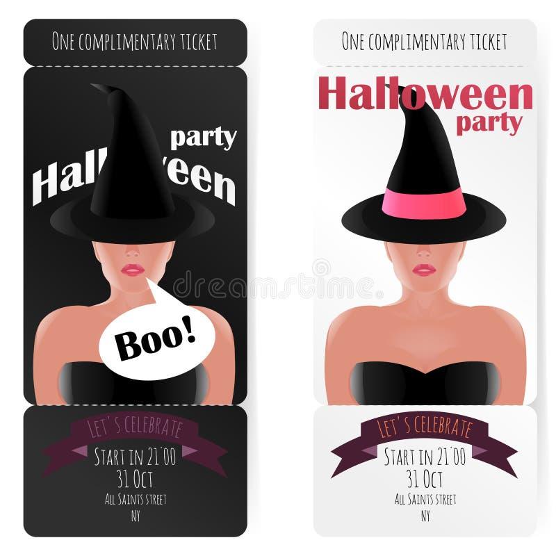 Elegancki bilet przyjęcie Halloween, ilustracji