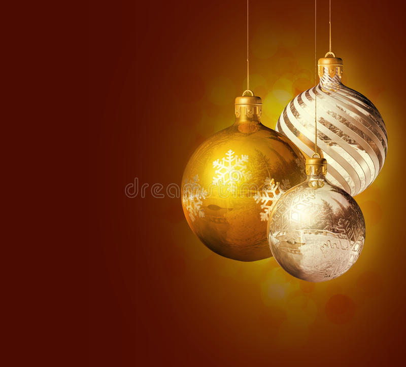 elegancki Boże Narodzenie wystrój royalty ilustracja