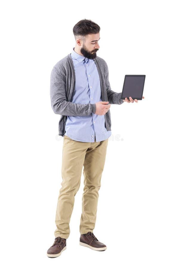 Elegancki brodaty biznesmena, nauczyciela mienie lub obrazy stock