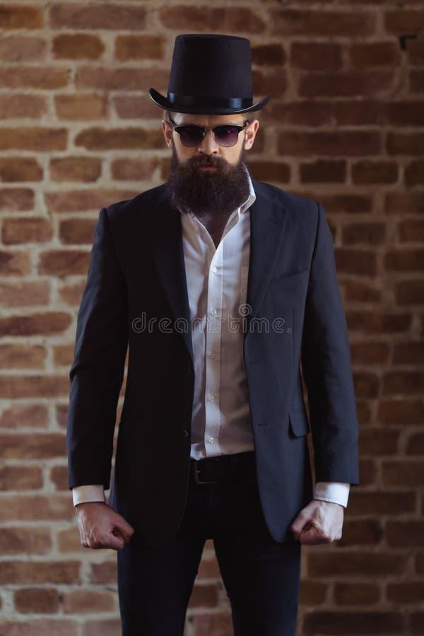 Elegancki Brodaty mężczyzna zdjęcia stock