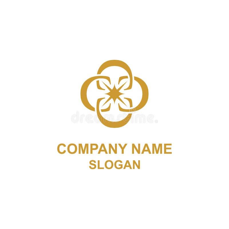 Elegancki C listu ornamentu inicjału logo ilustracja wektor