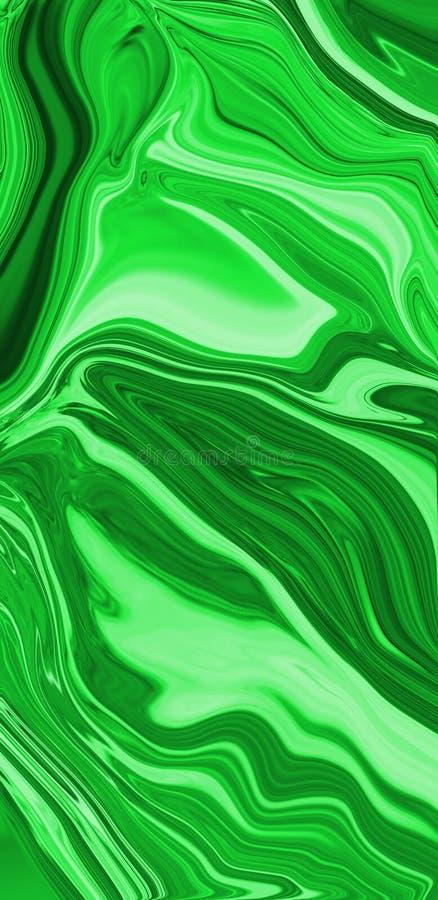 Elegancki ciecza marmuru wzór Fasonuje tło z kamienną teksturą dla nowożytnego pojęcie projekta Zielony marmurowy abstrakt ilustracja wektor