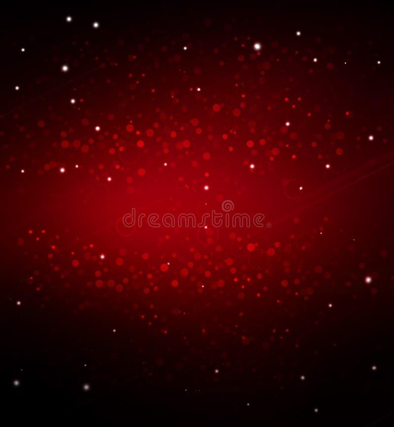 Elegancki czerwony świąteczny tło ilustracja wektor