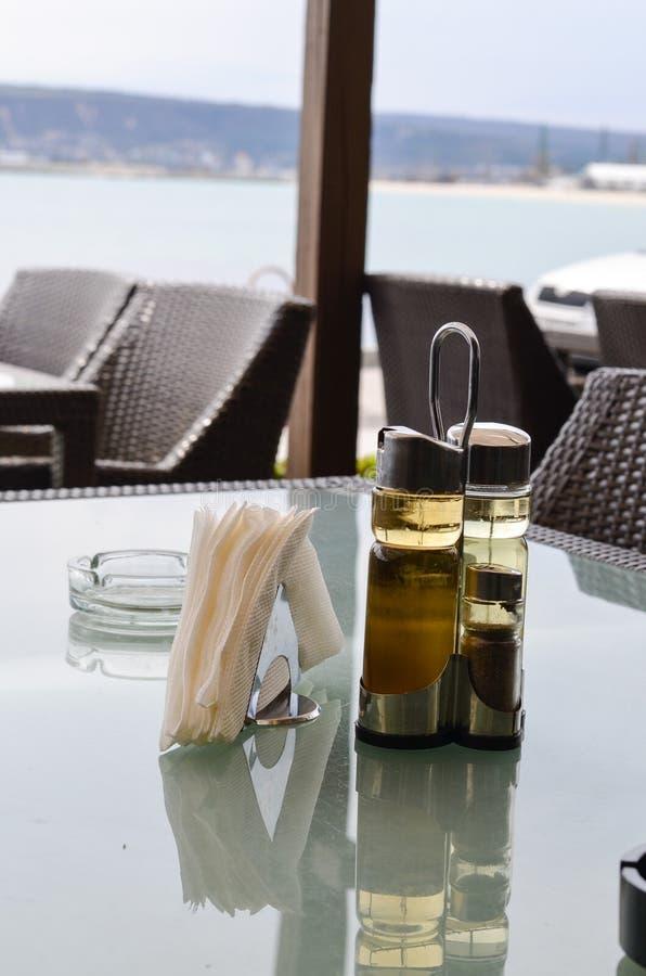 Elegancki denny restauracyjny wewnętrzny szczegół zdjęcia royalty free