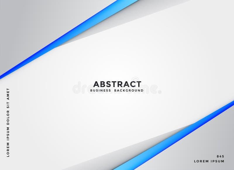 Elegancki geometryczny błękitny i szary biznesowy tło ilustracja wektor
