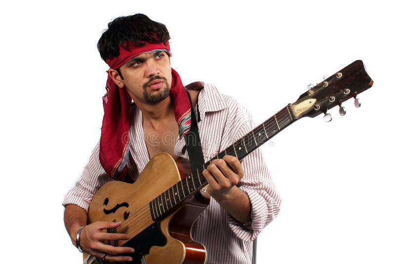 elegancki gitarzysty hindus fotografia stock