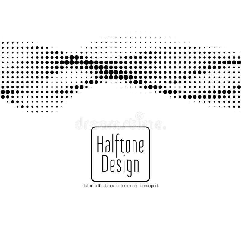 Elegancki halftone projekta wektoru t?o ilustracja wektor