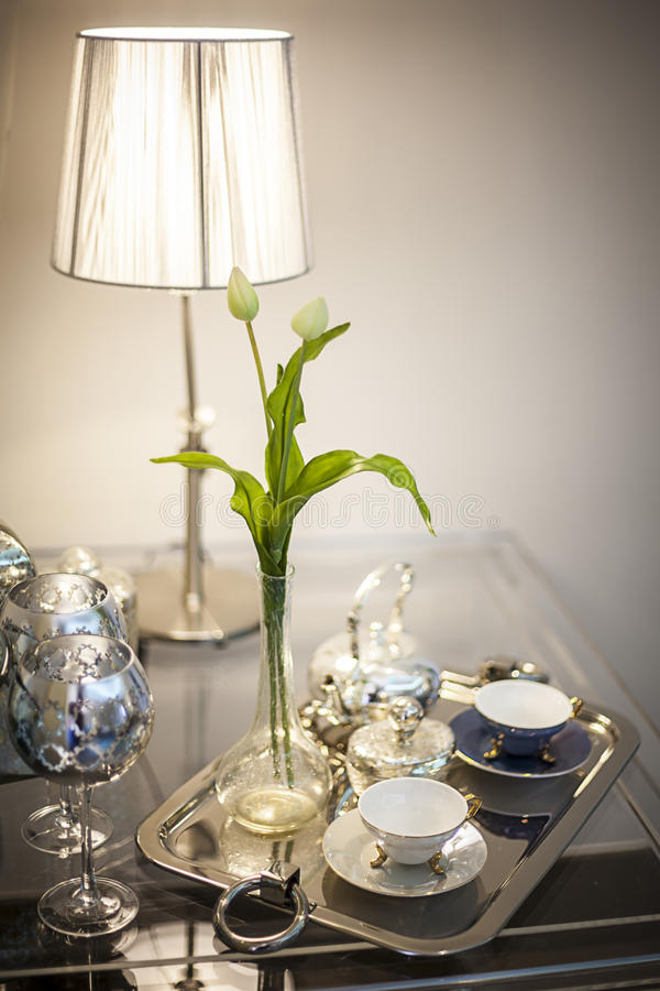 Elegancki Herbaciany czas fotografia stock