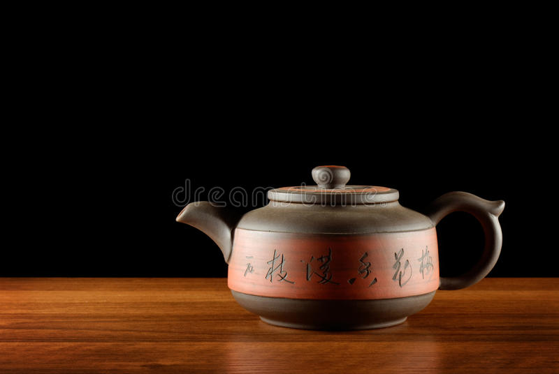 Elegancki herbaciany garnek zdjęcie stock