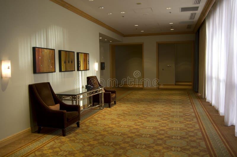 Elegancki hotelowy korytarz zdjęcie stock