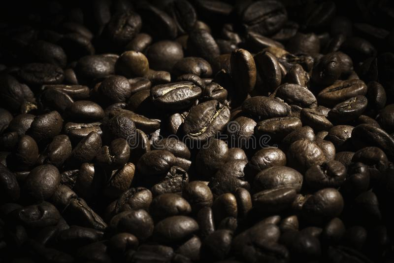Elegancki i szczegółowy Kawowej fasoli tło zdjęcie stock