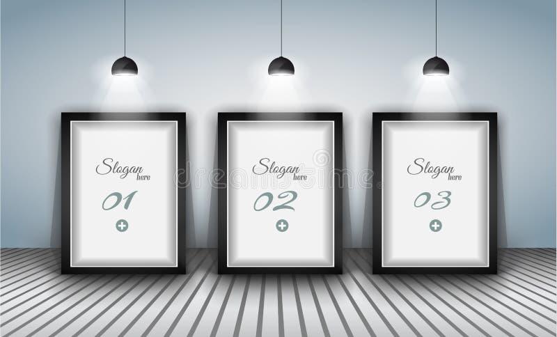 Elegancki infographics projekta szablon z shopfront elementami. ilustracja wektor