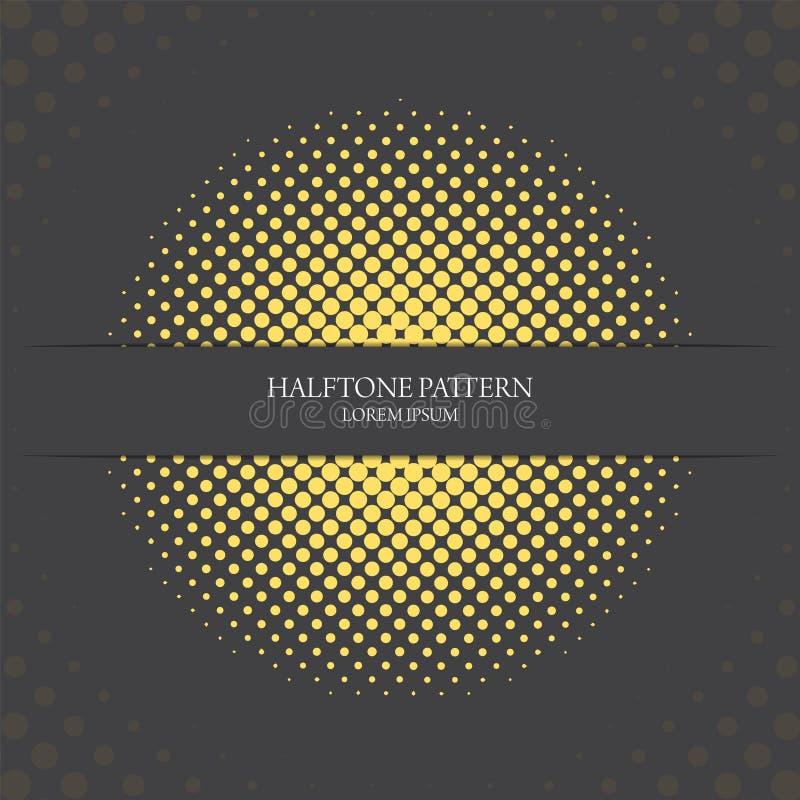 Elegancki jaskrawy żółty halftone wzór, sztandar i ilustracji