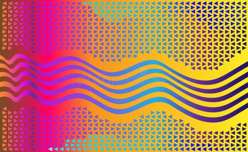 Elegancki jaskrawy, pstrobarwny tło dla i, Abstrakcjonistyczny pełnego koloru technologii backgr ilustracja wektor