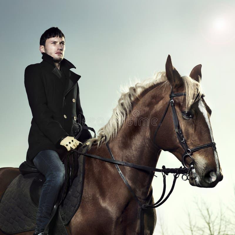 elegancki jeździec fotografia stock