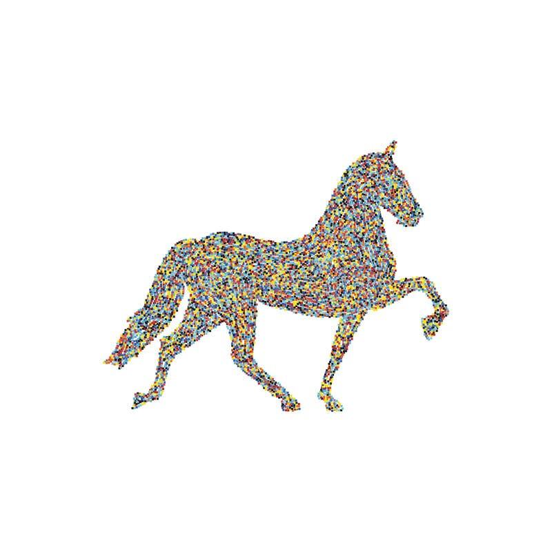 Elegancki koń ilustracja wektor