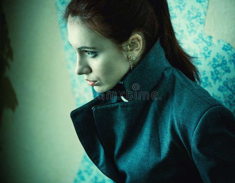 Elegancki kobieta portret zdjęcia royalty free