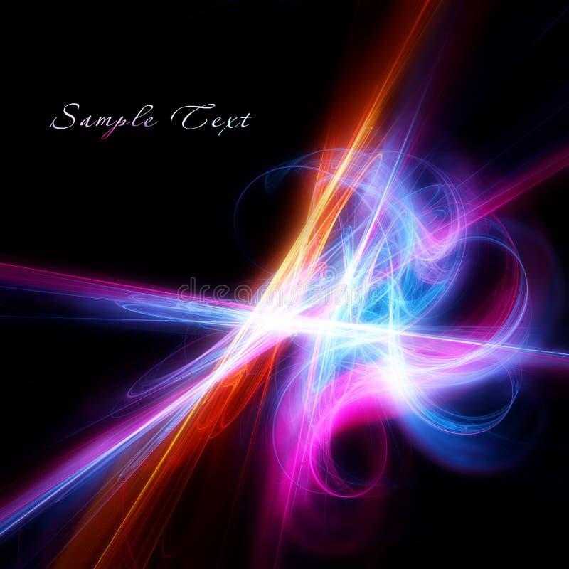Elegancki koloru fractal na czarnym tle ilustracji