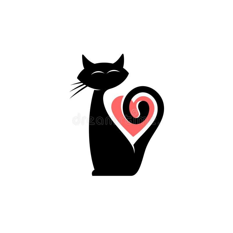 Elegancki kota logo ilustracji